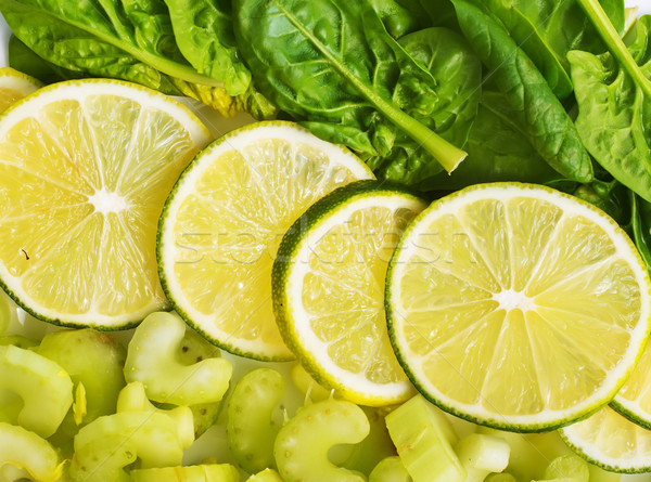 slice of fresh lime and avocado Stock photo © tycoon