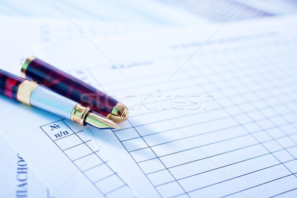 Kalem ofis kâğıt çalışmak kurumsal siyah Stok fotoğraf © tycoon