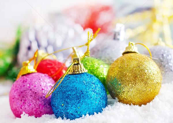 Noel dekorasyon dizayn kar arka plan sanat Stok fotoğraf © tycoon