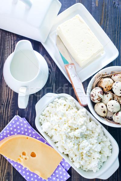 Latte prodotti greggio uova vetro Foto d'archivio © tycoon
