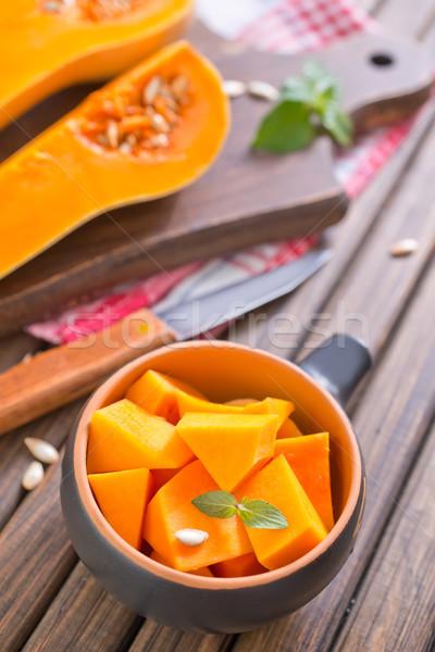 Calabaza madera naturaleza fondo cocina naranja Foto stock © tycoon