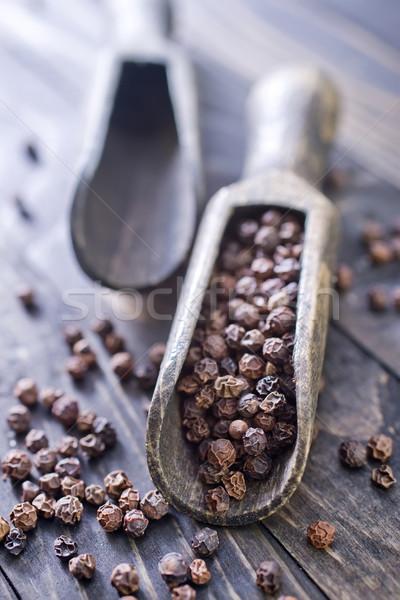 黒コショウ 食品 木材 黒 料理 インド ストックフォト © tycoon