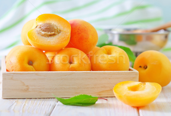 fresh apricots and gam Stock photo © tycoon