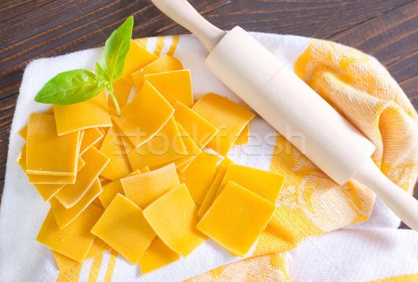 пасты сырой продовольствие древесины здоровья обеда Сток-фото © tycoon