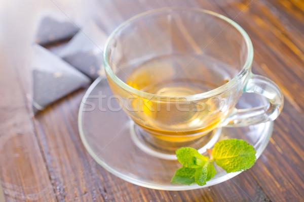 De chá vidro fundo medicina café da manhã Foto stock © tycoon