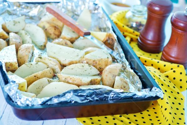 картофеля сырой аромат Spice соль продовольствие Сток-фото © tycoon