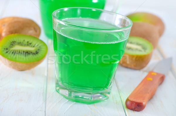 Kiwi jugo naturaleza salud mesa color Foto stock © tycoon