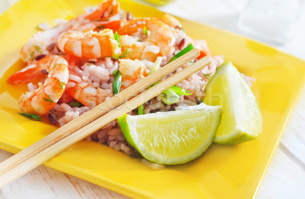 rice with shrimps Stock photo © tycoon