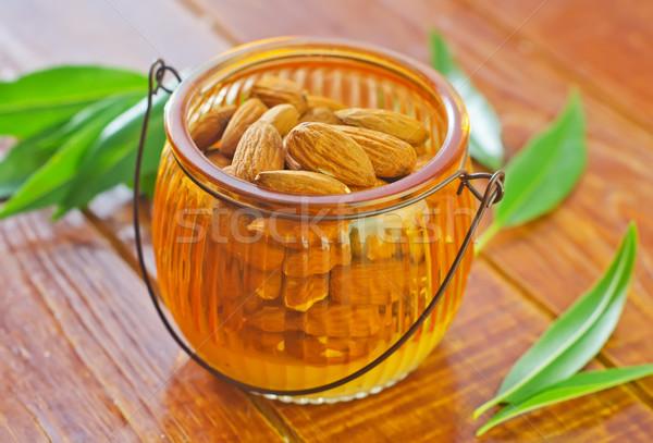 Amande usine manger vintage fraîches semences Photo stock © tycoon