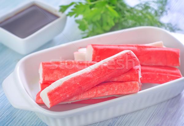 Сток-фото: краба · рыбы · обеда · белый · свежие · еды