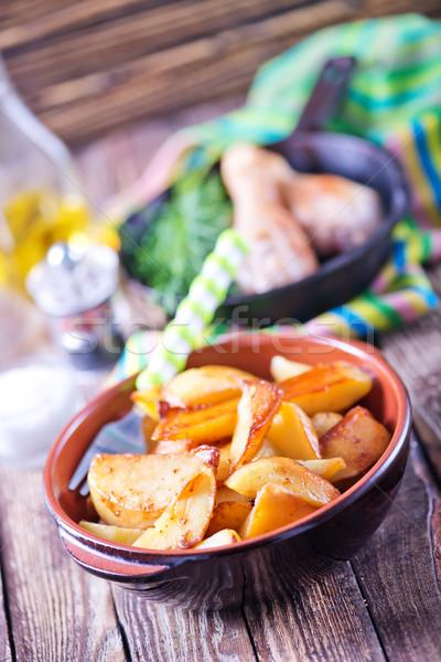 Eigengemaakt voedsel vers lunch houten keukentafel Stockfoto © tycoon