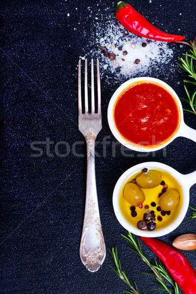 sauce with spice Stock photo © tycoon