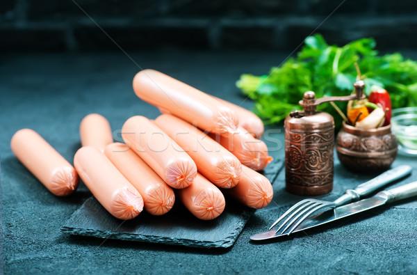 Salsichas preto tabela estoque foto comida Foto stock © tycoon