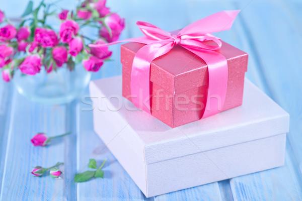 Presenta cajas flor boda amor feliz Foto stock © tycoon