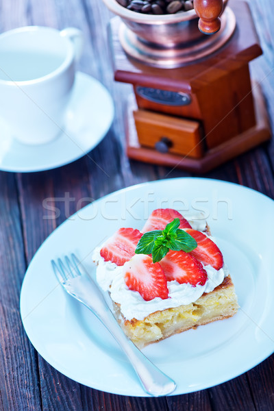 pie with strawberry Stock photo © tycoon