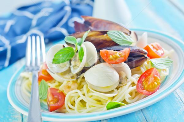 Pasta frutti di mare alimentare pesce mare cucina Foto d'archivio © tycoon