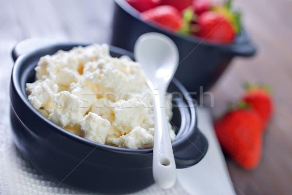 Casa de campo morango casa fundo cozinha queijo Foto stock © tycoon