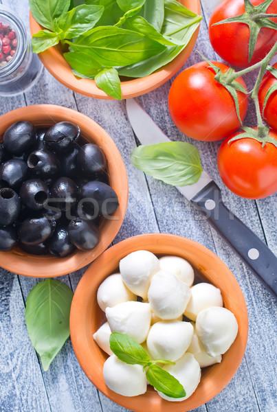 ingredients for caprese Stock photo © tycoon