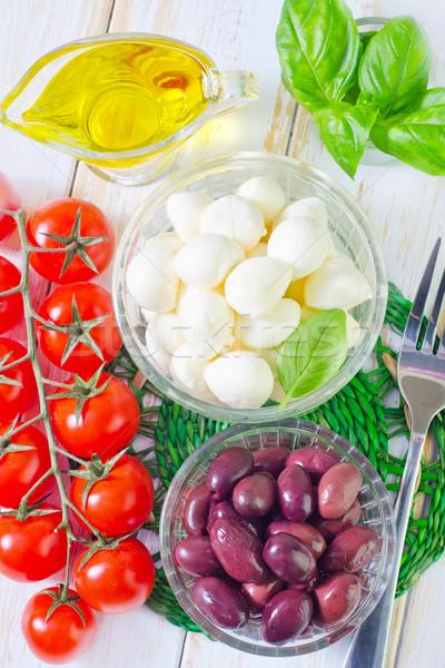 材料 カプレーゼ 食品 ディナー 赤 サラダ ストックフォト © tycoon