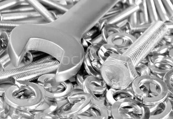 Dadi business industria vita acciaio studio Foto d'archivio © tycoon