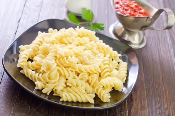 Pasta textura alimentos cena negro color Foto stock © tycoon