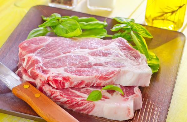 Nyers hús étel konyha vacsora állat Stock fotó © tycoon