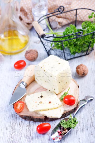チーズ ボード 表 紙 青 朝食 ストックフォト © tycoon