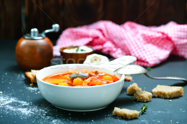soup with beet Stock photo © tycoon