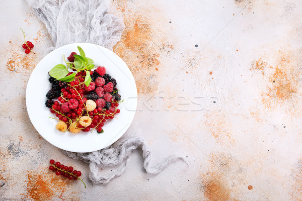 mix berries Stock photo © tycoon