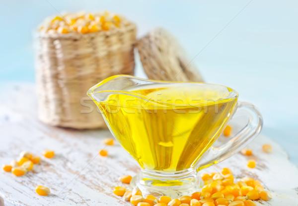 Milho Óleo textura comida casa saúde Foto stock © tycoon