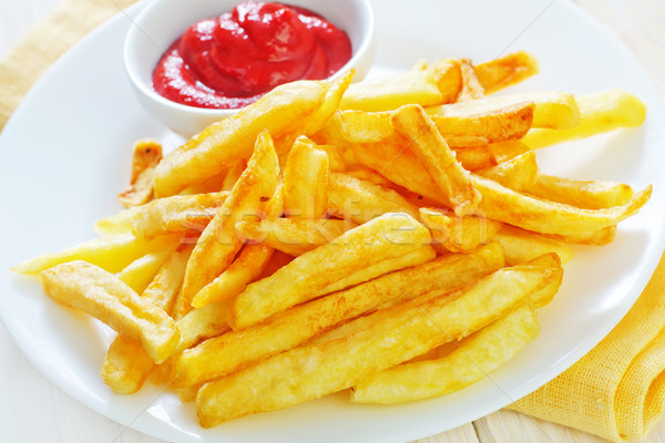 potato with sauce Stock photo © tycoon