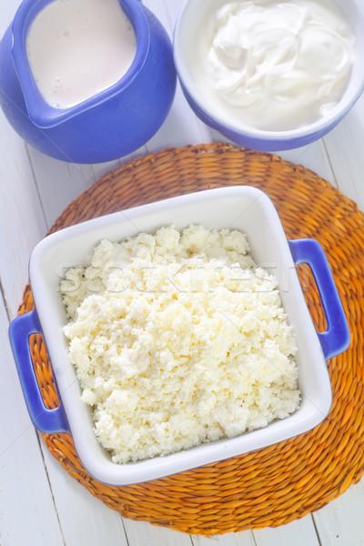 Panna acida cottage latte alimentare salute cucina Foto d'archivio © tycoon