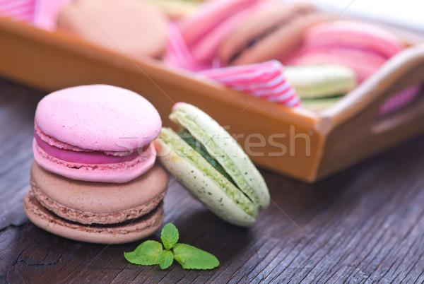 Cookie tabeli kolor czekolady ciasto pomarańczowy Zdjęcia stock © tycoon