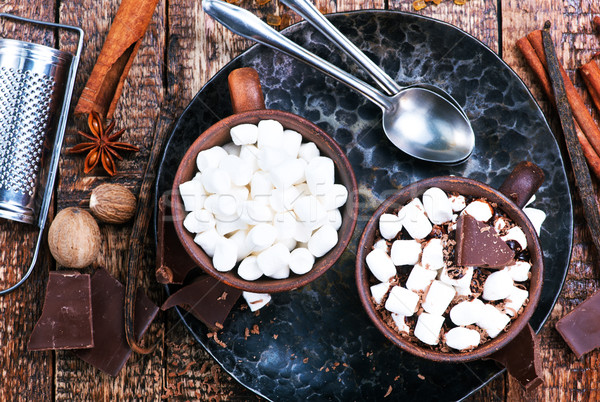 Chocolat chaud tasse table alimentaire chocolat hiver Photo stock © tycoon