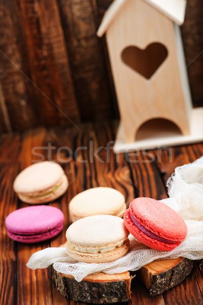 Stok fotoğraf: Renk · tablo · tatlı · kurabiye · doğum · günü · çikolata