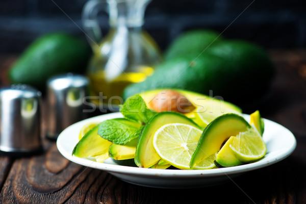 Abacate salada prato tabela comida verde Foto stock © tycoon