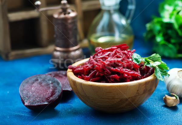 Stockfoto: Salade · saladeschaal · tabel · natuur · achtergrond · eten