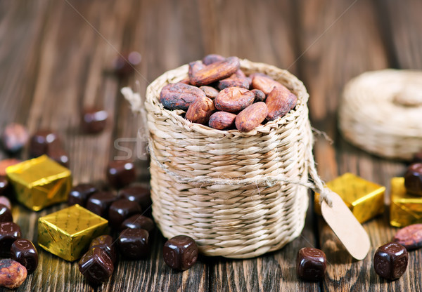 cocoa beans Stock photo © tycoon