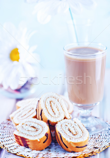 ストックフォト: 甘い · ケーキ · プレート · 表 · 食品 · ドリンク