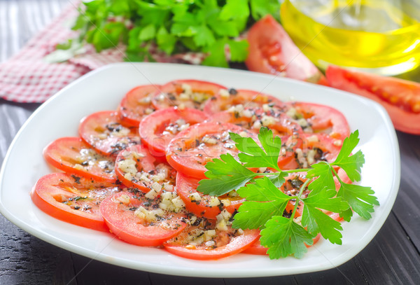 tomato with basil and garlic Stock photo © tycoon