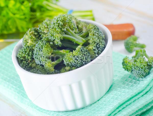 Brokkoli textúra háttér konyha zöld tányér Stock fotó © tycoon