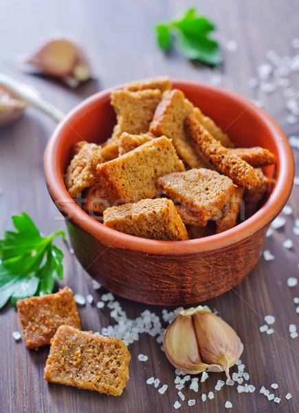 Só fokhagyma csoport kenyér szín saláta Stock fotó © tycoon