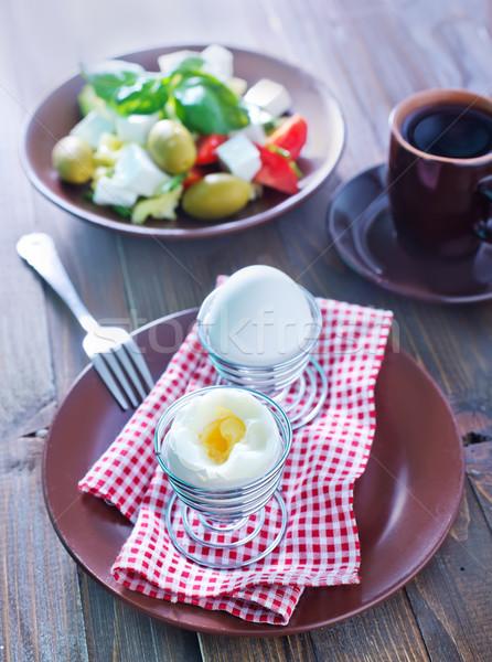 ストックフォト: 卵 · コーヒー · 卵 · グループ · サラダ