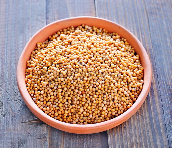 Musztarda żywności liści oleju gotowania nasion Zdjęcia stock © tycoon
