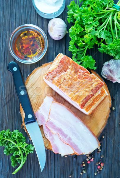 Fumado tabela comida cozinha jantar Foto stock © tycoon
