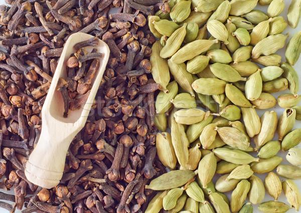 Karanfil doku gıda mutfak beyaz tohum Stok fotoğraf © tycoon