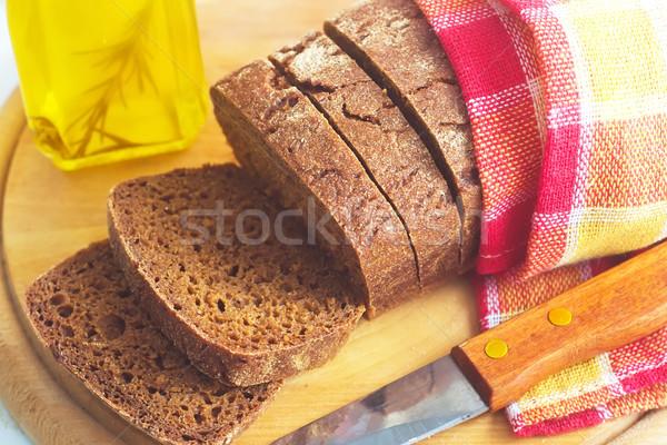 Stockfoto: Vers · brood · mes · tarwe · retro