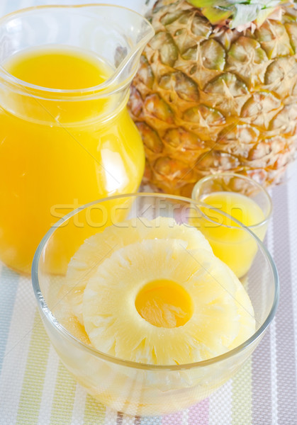 Ananás suco cor anel tropical amarelo Foto stock © tycoon