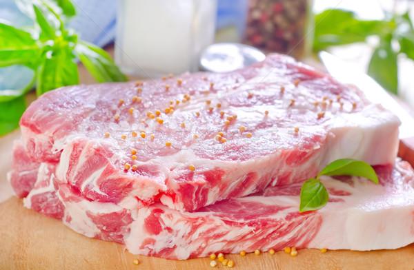 Carne alimente sănătate bucătărie roşu Imagine de stoc © tycoon