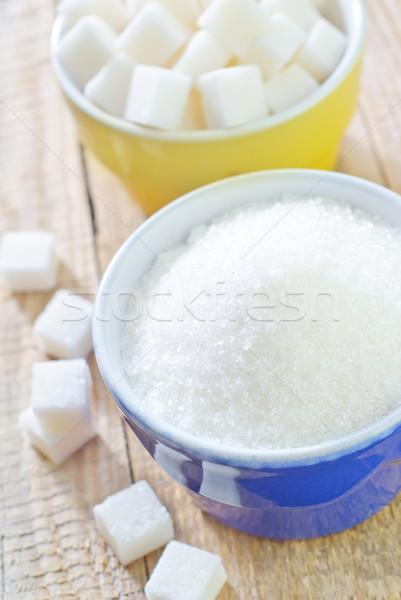 Cukor textúra háttér fehér desszert súly Stock fotó © tycoon
